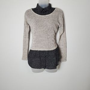 One Clothing Oatmeal Scoop Neck Sweater - US M